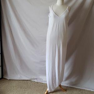 New Abound White Maxi Spaghetti Strap Dress